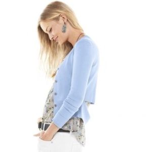CAbi~5140 Periwinkle Cut-Out Cardigan~M